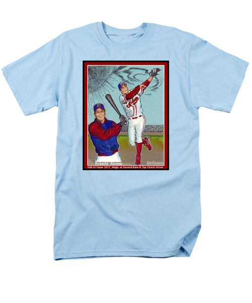 Men's T-Shirt  (Regular Fit) featuring the mixed media Roberto Alomar Hall Of Fame by Ray Tapajna