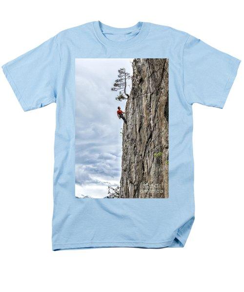 Rock Climber Men's T-Shirt  (Regular Fit) by Carsten Reisinger