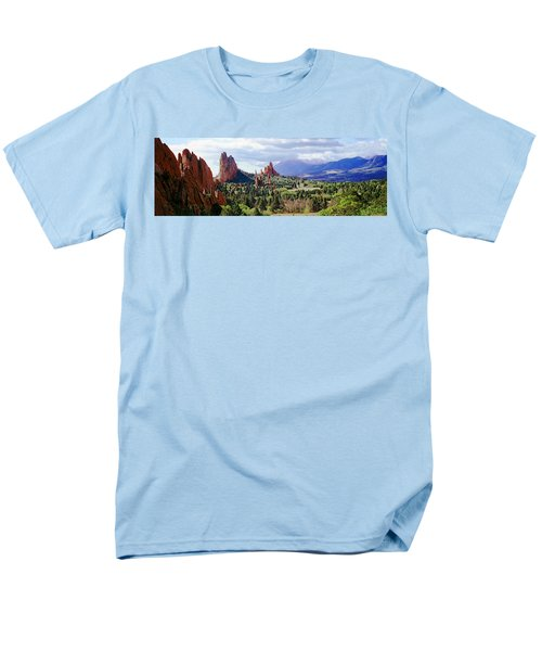 Rock Formations On A Landscape, Garden Men's T-Shirt  (Regular Fit) by Panoramic Images
