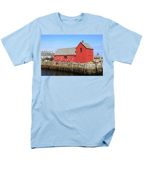 Rockport Motif Number 1 Men's T-Shirt  (Regular Fit) by Lou Ford