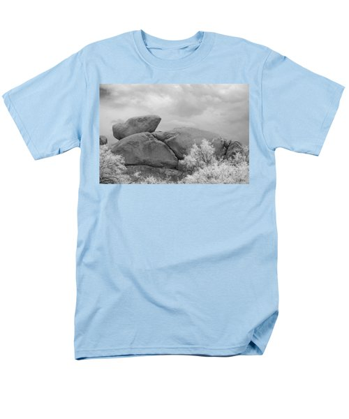 Rocks Under Ir Sky Men's T-Shirt  (Regular Fit) by Michael McGowan