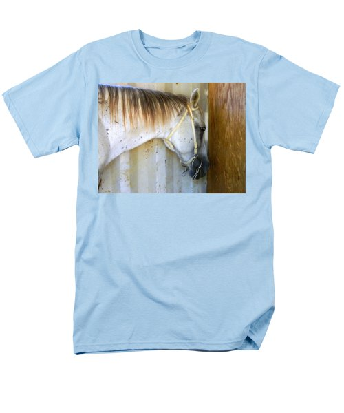 Men's T-Shirt  (Regular Fit) featuring the photograph Saddle Break by Kathy Barney