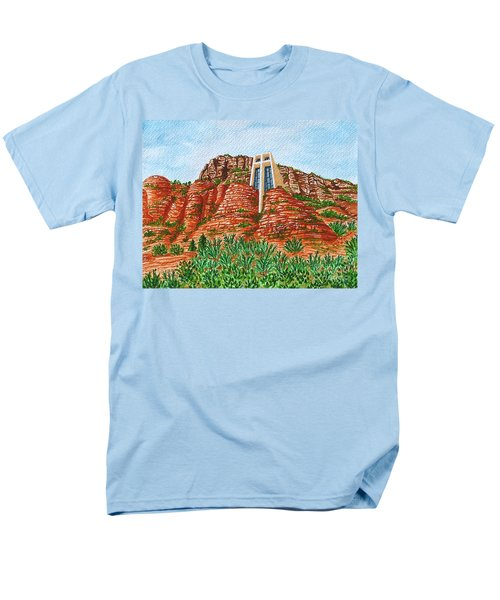 Sadona Church Men's T-Shirt  (Regular Fit) by Val Miller