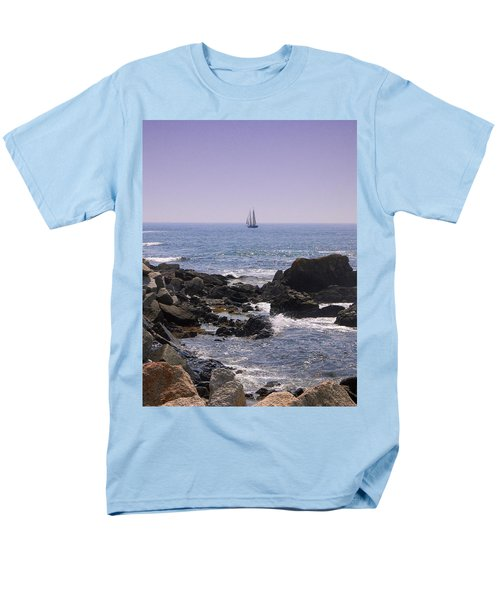 Sailboat - Maine Men's T-Shirt  (Regular Fit) by Photographic Arts And Design Studio