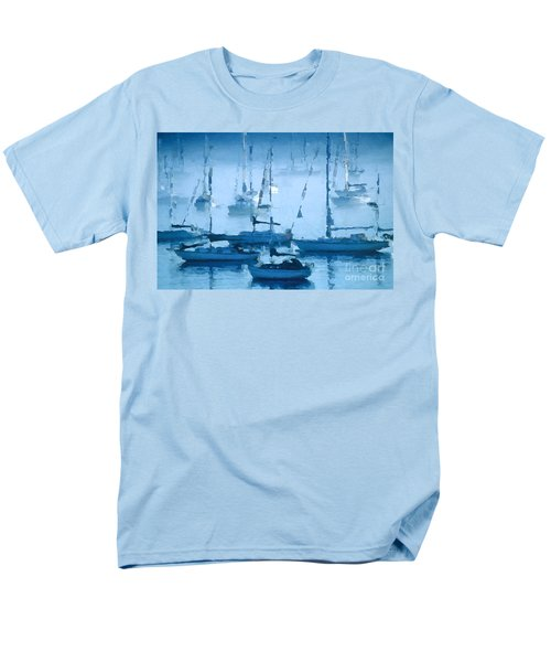 Sailboats In The Fog II Men's T-Shirt  (Regular Fit) by David Perry Lawrence