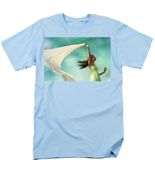 Sailing A Favorable Wind Men's T-Shirt  (Regular Fit) by Laura Fasulo