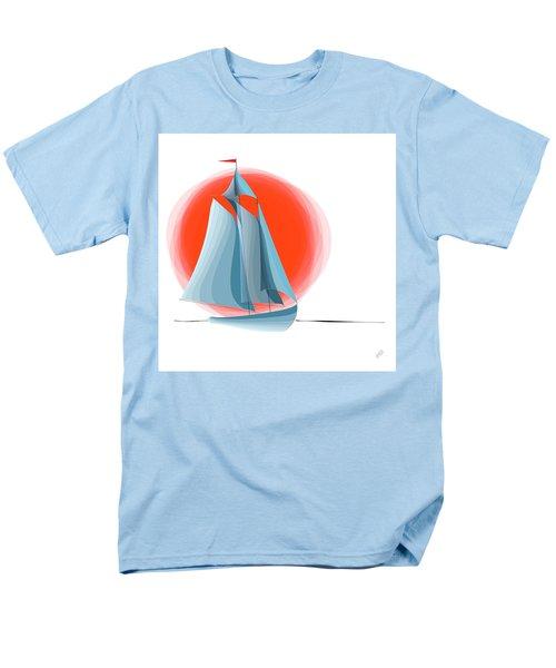 Sailing Red Sun Men's T-Shirt  (Regular Fit) by Ben and Raisa Gertsberg