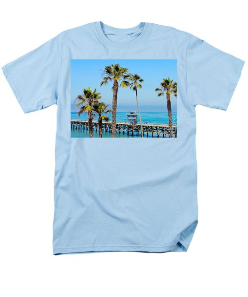 San Clemente Pier Men's T-Shirt  (Regular Fit) by Suzanne Oesterling