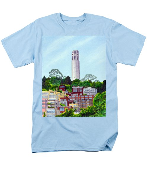 San Francisco's Coit Tower Men's T-Shirt  (Regular Fit) by Mike Robles
