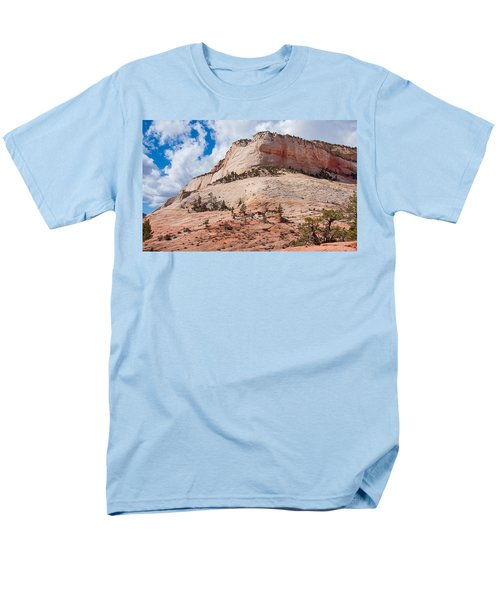 Men's T-Shirt  (Regular Fit) featuring the photograph Sandstone Mountain by John M Bailey