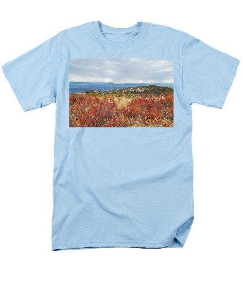 Sandstone Peak Fall Landscape Men's T-Shirt  (Regular Fit) by Kyle Hanson