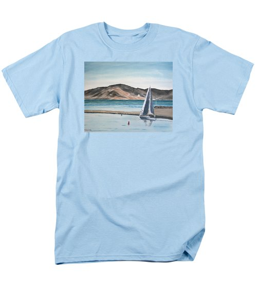 Men's T-Shirt  (Regular Fit) featuring the painting Santa Barbara Sailing by Ian Donley