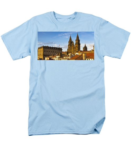 Men's T-Shirt  (Regular Fit) featuring the photograph Santiago De Compostela Cathedral Galicia Spain by Pablo Avanzini