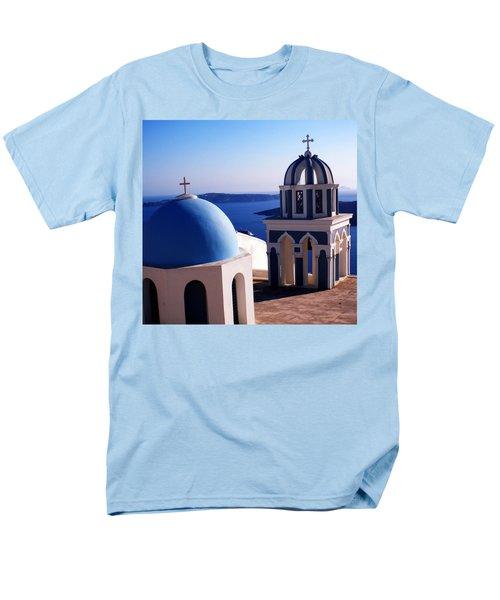 Men's T-Shirt  (Regular Fit) featuring the photograph Santorini  Island Church Greece  by Colette V Hera  Guggenheim