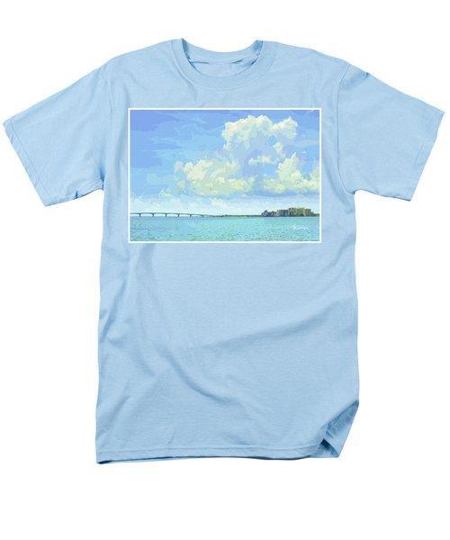 Sarasota Skyline From Sarasota Bay Men's T-Shirt  (Regular Fit) by Susan Molnar