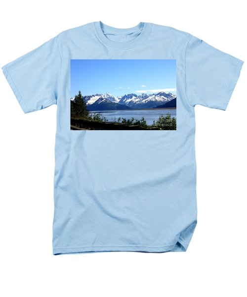Men's T-Shirt  (Regular Fit) featuring the photograph Scenic Byway In Alaska by Kathy  White