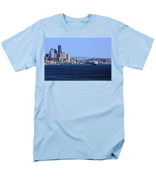 Men's T-Shirt  (Regular Fit) featuring the photograph Seattle Skyscrapers by Kristin Elmquist