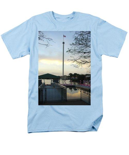 Men's T-Shirt  (Regular Fit) featuring the photograph Seaworld Skytower by David Nicholls