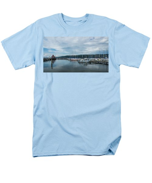 Seneca Lake Harbor - Watkins Glen - Wide Angle Men's T-Shirt  (Regular Fit)