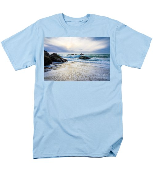 Men's T-Shirt  (Regular Fit) featuring the photograph Setting Sun And Rising Tide by CML Brown