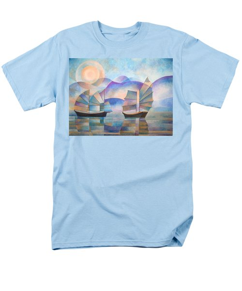 Men's T-Shirt  (Regular Fit) featuring the painting Shades Of Tranquility by Tracey Harrington-Simpson