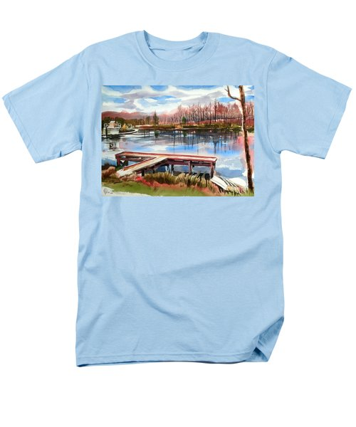 Shepherd Mountain Lake In Winter Men's T-Shirt  (Regular Fit)
