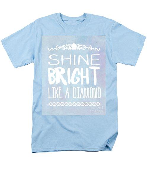 Shine Bright Blue Men's T-Shirt  (Regular Fit)