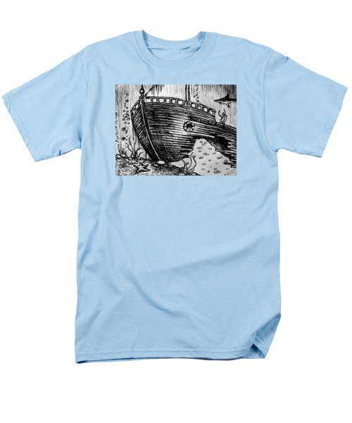 Men's T-Shirt  (Regular Fit) featuring the painting Shipwreck by Salman Ravish