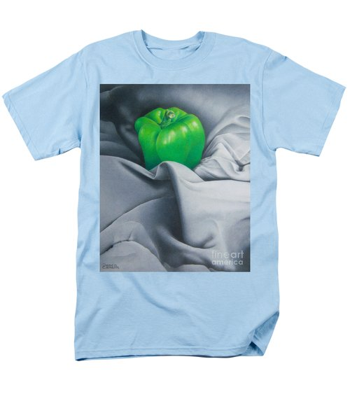 Men's T-Shirt  (Regular Fit) featuring the painting Simply Green by Pamela Clements
