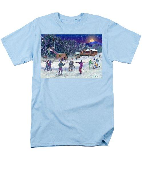 Ski Area Campton Mountain Men's T-Shirt  (Regular Fit) by Nancy Griswold