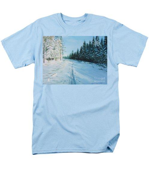 Ski Tracks Men's T-Shirt  (Regular Fit) by Martin Howard