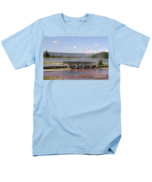 Men's T-Shirt  (Regular Fit) featuring the photograph Smoke On The Water by Mary Carol Story