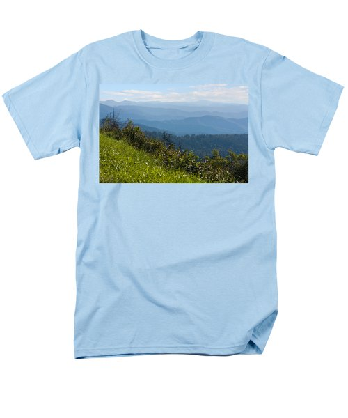 Smoky Mountains View Men's T-Shirt  (Regular Fit) by Melinda Fawver