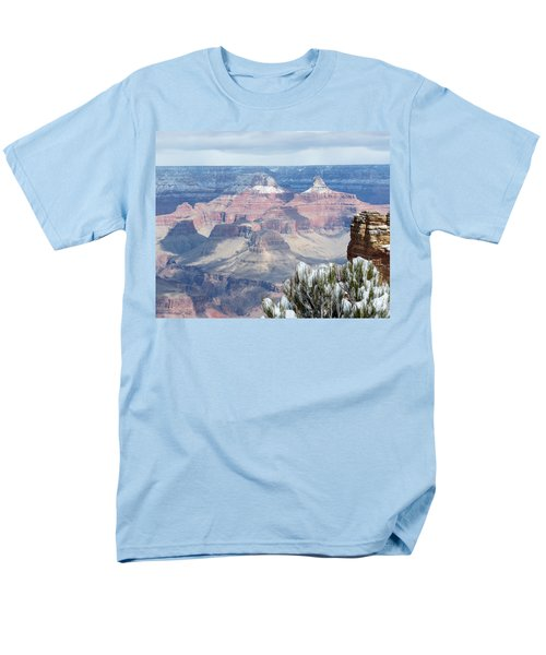 Snow At The Grand Canyon Men's T-Shirt  (Regular Fit) by Laurel Powell