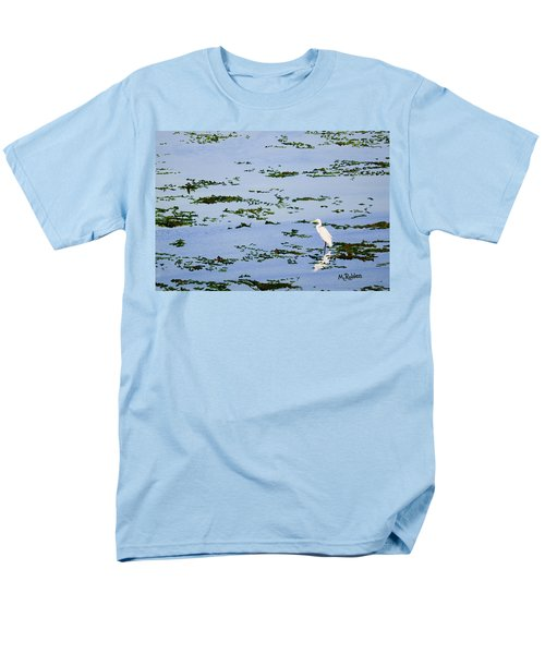 Snowy Egret Men's T-Shirt  (Regular Fit) by Mike Robles