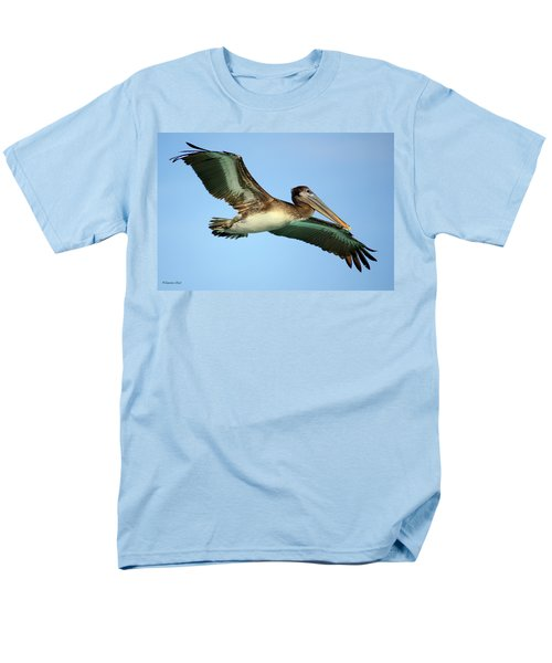 Men's T-Shirt  (Regular Fit) featuring the photograph Soaring Pelican by Suzanne Stout