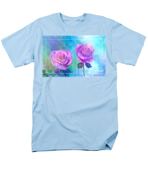 Soft And Beautiful Roses Men's T-Shirt  (Regular Fit) by Annie Zeno