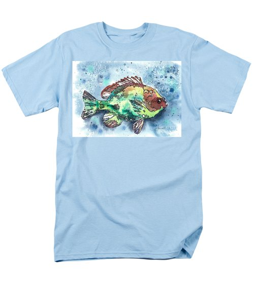 Men's T-Shirt  (Regular Fit) featuring the painting Something's Fishy by Barbara Jewell