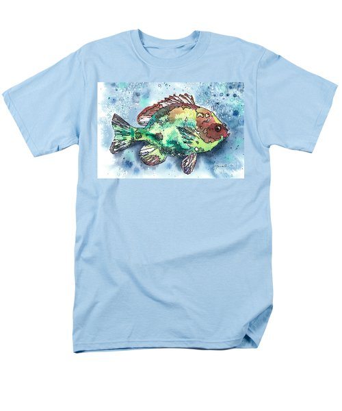 Men's T-Shirt  (Regular Fit) featuring the painting Something's Fishy Two by Barbara Jewell