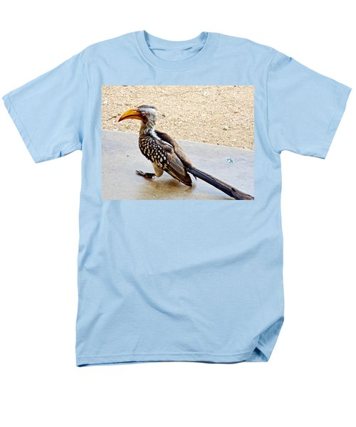 Southern Yellow-billed Hornbill In Kruger National Park-south Africa Men's T-Shirt  (Regular Fit) by Ruth Hager