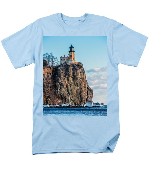 Split Rock Lighthouse In Winter Men's T-Shirt  (Regular Fit) by Paul Freidlund