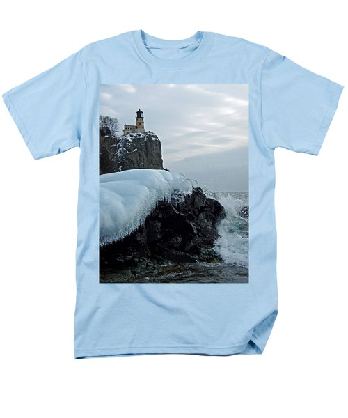 Men's T-Shirt  (Regular Fit) featuring the photograph Split Rock Lighthouse Winter by James Peterson