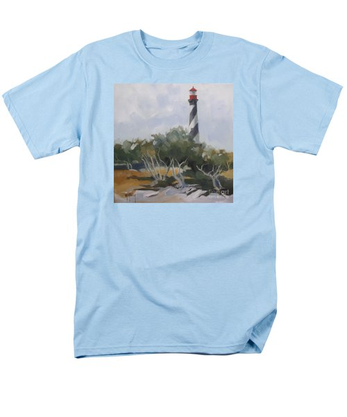 St Augustine Lighthouse First Light Men's T-Shirt  (Regular Fit) by Mary Hubley