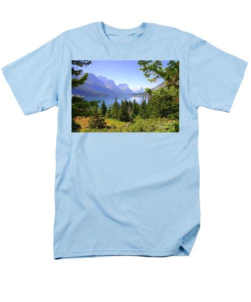 St. Mary Lake Men's T-Shirt  (Regular Fit) by Bob Hislop