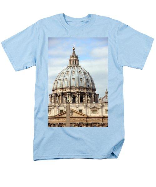 St. Peters Basilica Men's T-Shirt  (Regular Fit) by Debi Demetrion