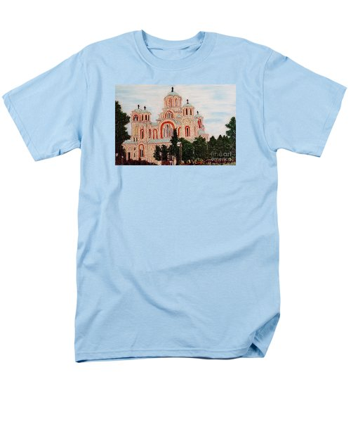 Men's T-Shirt  (Regular Fit) featuring the painting St.marko Church Belgrade by Jasna Gopic
