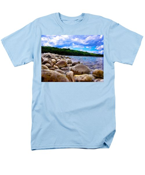 Stone Beach Men's T-Shirt  (Regular Fit) by Zafer Gurel