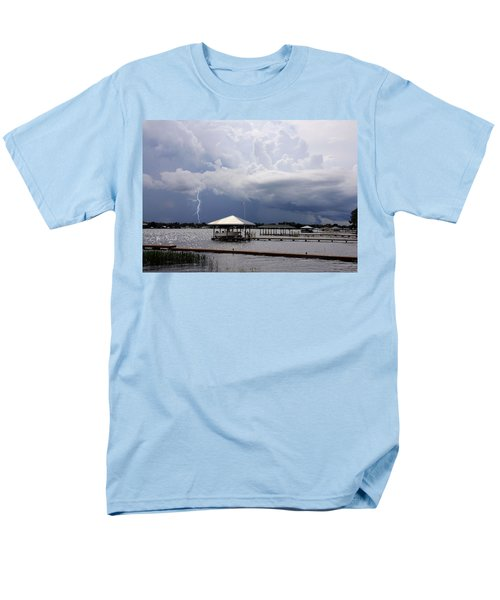Storm Over Clay Lake Men's T-Shirt  (Regular Fit) by Rosalie Scanlon