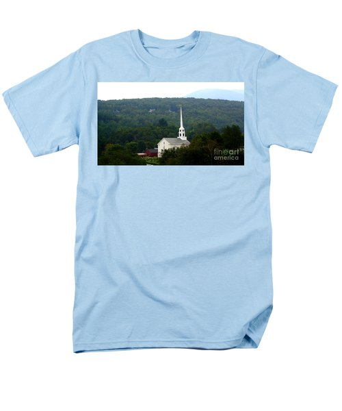 Men's T-Shirt  (Regular Fit) featuring the photograph Stowe Community Church by Patti Whitten