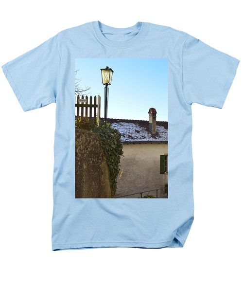Men's T-Shirt  (Regular Fit) featuring the photograph Street Lamp At The Castle  by Felicia Tica